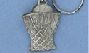 Basketball and Net Keychain - Lead Free Pewter