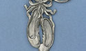 Ballet Slippers Keychain - Lead Free Pewter