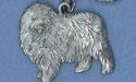 English Sheep Dog Keychain - Lead Free Pewter