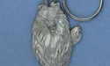 Collie Keychain - Lead Free Pewter