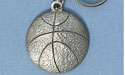 Basketball Keychain - Lead Free Pewter