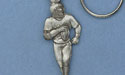 Football Player Keychian - Lead Free Pewter