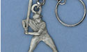 Baseball Player Keychian - Lead Free Pewter