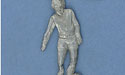 Soccer Player Keychain - Lead Free Pewter