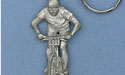 Cyclist Keychain - Lead Free Pewter