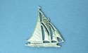 Sailboat Brooch - Lead Free Pewter