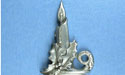 Christmas Candle Brooch - Lead Free Pewter