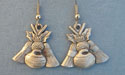 Thistle, Rock & Broom Dangle Earrings - Lead Free Pewter