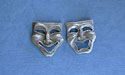 Comedy & Tragedy Earrings - Lead Free Pewter