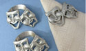 Comedy & Tragedy Napkin Rings - Lead Free Pewter