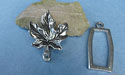 Maple Leaf Pewter Button Toggle