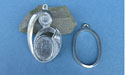 Cabochon Pendant Pewter Button Toggle