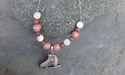 Skating Beaded Necklace - Lead Free Pewter