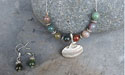 Curling Rock Beaded Necklace - Lead Free Pewter