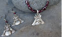 Curling Rock and Broom Beaded Necklace - Lead Free Pewter