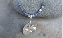 Curling Rock & Broom Swoosh with Rhinestone Beaded Necklace