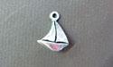 Sailing Ship Mini-Pewter Charm - Lead Free Pewter