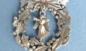 Wreath Ornament with Angel Charm