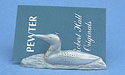 Loon Card Holder - Lead Free Pewter