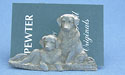 Golden Retriever Business Card Holder - Lead Free Pewter