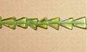 "Triangle Peridot - 15"" Strand"