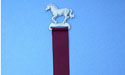 Running Horse Bookmark - Lead Free Pewter