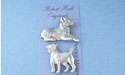 Jack Russell Magnet Set - Lead Free Pewter