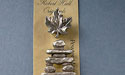 Maple Leaf / Inukshuk - Set of 4 Magnets - Lead Free Pewter