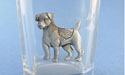 Sitting Jack Russell Shot Glass - Lead Free Pewter