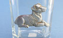 Standing Jack Russell Shot Glass - Lead Free Pewter