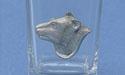 Bear Head Shot Glass Lead Free Pewter