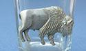 Buffalo Shot Glass Lead Free Pewter