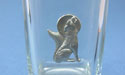 Howling Coyote Shot Glass Lead Free Pewter