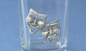 Comedy & Tragedy Shot Glass - Lead Free Pewter
