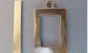 Large Rectangle Toggle - Lead Free Pewter
