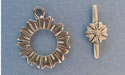 Flower Toggle - Lead Free Pewter