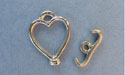 Heart Toggle - Lead Free Pewter