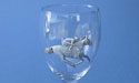 Jockey on Wine Glass - Lead Free Pewter