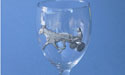 Sulky & Rider Wine Glass - Lead Free Pewter