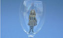 Irish Dancer Wine Glass - Lead Free Pewter