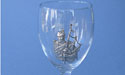 Piper Wine Glass - Lead Free Pewter