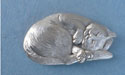 Cat Worry Stone - Lead Free Pewter