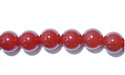 "6mm Round Red Agate - 16"" Strand"