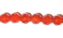"6mm 64 Facet Cut Red Agate - 16"" Strand"