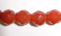 "8mm 64 Facet Cut Red Agate- 16"" Strand"
