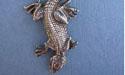 Lizard Zipper Puller Lead Free Pewter