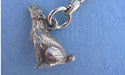 Coyote Zipper Puller Lead Free Pewter