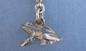 Frog Zipper Puller Lead Free Pewter