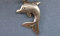 Dolphin Zipper Puller - Lead Free Pewter