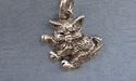 Kitten Side Zipper Puller - Lead Free Pewter